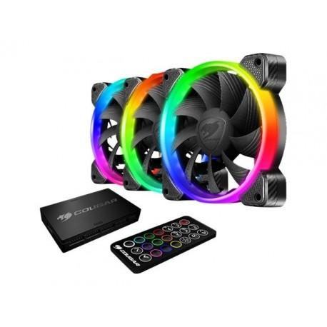 COUGAR VORTEX RGB HPB 120 Cooling Kit - Ventilador para caja - 120 mm (paquete de 3)