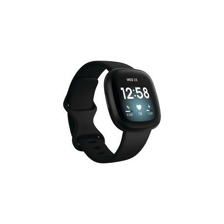 Fitbit Versa 3 - Aluminio negro - reloj inteligente con banda