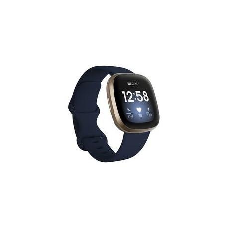 Fitbit Versa 3 - Aluminio dorado suave - reloj inteligente con banda