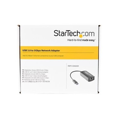 StarTech.com Adaptador de Red Ethernet USB-A a RJ45 5 Gigabit LAN - 5GBASE-T - Mac Windows y Linux