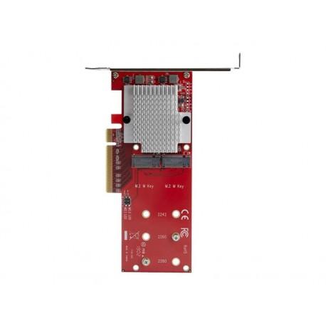 StarTech.com Adaptador PCI Express x8 para Dos SSD M.2 - PCI-E 3.0 - Tarjeta Adaptadora PCI-E para SSD M.2 NVMe AHCI