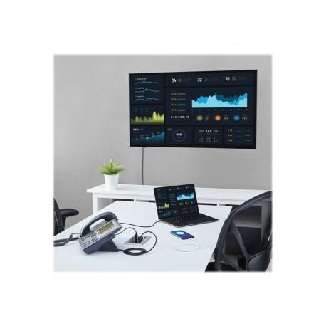 StarTech.com Caja de Conectividad de Audio y Vídeo para Mesas de Conferencia - con Entradas HDMI / VGA / DisplayPort - con Salid