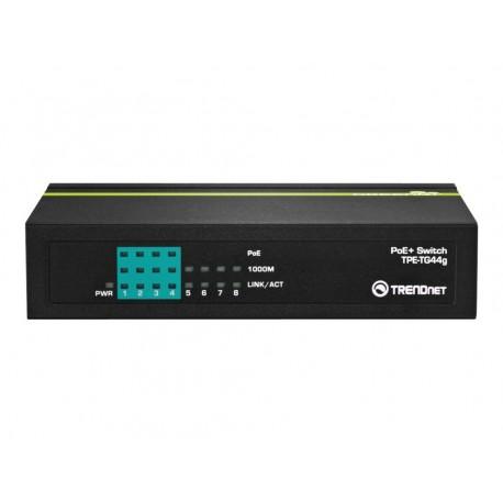 TRENDnet TPE TG44g - Conmutador - 4 x 10/100/1000 (PoE+) + 4 x 10/100/1000 (PoE+)