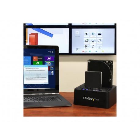 "StarTech.com Base de Conexión Autónoma USB 3.1 (10Gbps) para SSD/DD SATA de 2,5"" y 3,5"" - Dock con Función de Copiado Rápido -"