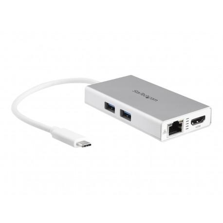 StarTech.com Adaptador USB-C Multifunción para Ordenadores Portátiles con Entrega de Potencia - 4K HDMI - Red Ethernet