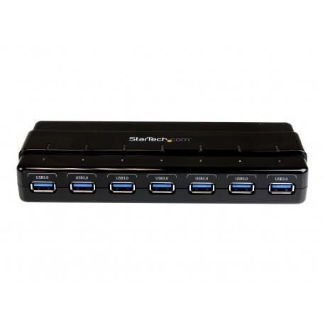StarTech.com Concentrador Ladrón USB 3.0 de 7 Puertos - Hub de Sobremesa con Adaptador de Alimentación - Hub