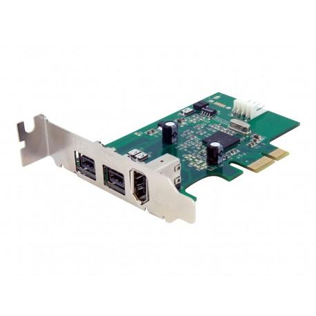 StarTech.com Adaptador Tarjeta FireWire PCI-Express Bajo Perfil 1394a/b - 1x FireWire 400 6 pines Hembra - 2x FireWire 800 9 pin
