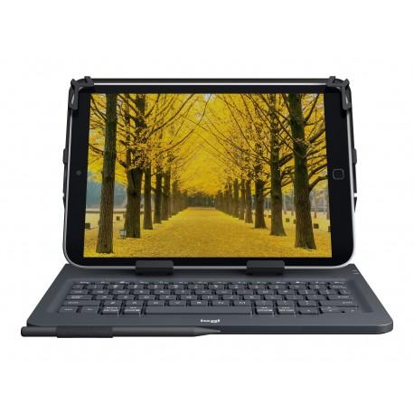 Logitech Universal Folio for 9-10 inch Tablets - Caja de teclado y folio - inalámbrico
