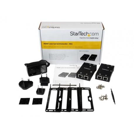 StarTech.com Kit Extensor Vídeo Audio HDMI por Cable de Red UTP Ethernet Cat5 Cat6 RJ45 con Power over Cable PoC - 50m - Alargad