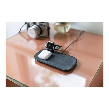 mophie 3-in-1 wireless charging pad - Alfombrilla de carga inalámbrica + adaptador de corriente CA - 7.5 vatios