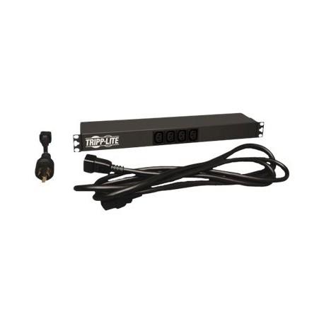 Tripp Lite PDU Basic Dual Volt 100V-240V 20A 2 C19 / 12 C13 Horizontal 1URM - Horizontal rackmount - unidad de distribución de p