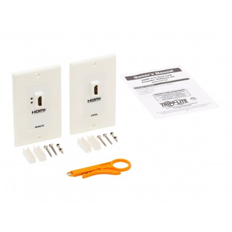Tripp Lite HDMI Wallplate Extender Kit Over Cat5 / Cat6 F/F - Placa de montaje - HDMI