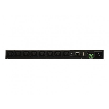 Tripp Lite PDU Monitored 208V-240V 20A C13 8 Outlet L6-20P Horizontal 1URM - Horizontal rackmount - unidad de distribución de po