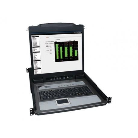 "Tripp Lite 16-Port Rack Console KVM Switch 19"" LCD PS2/USB Cables 1U - Consola KVM con conmutador KVM - 16 puertos"