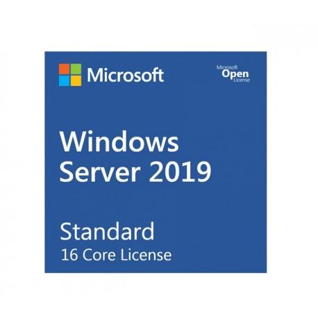 Microsoft Windows Server 2019 Standard - Licencia - 16 núcleos, 2 máquinas virtuales