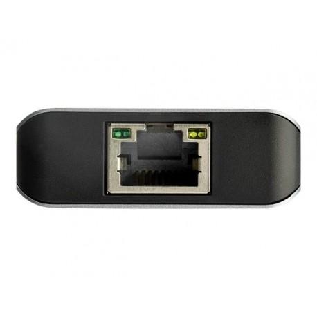 StarTech.com Hub USB-C 10Gbps de 3 Puertos con Puerto de Red Ethernet - 2x USB-A y 1x USB-C - (HB31C2A1CGB)