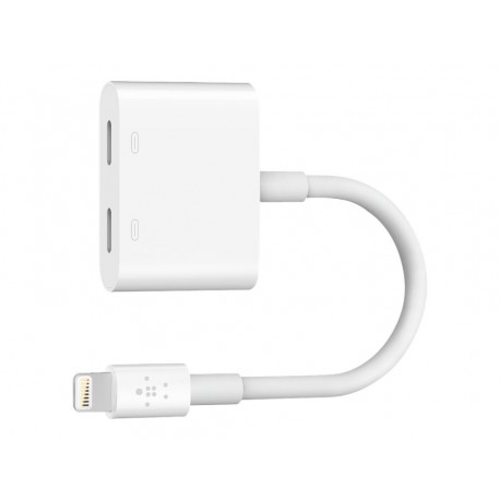Belkin Lightning Audio + Charge RockStar - Cable de audio/carga - Lightning (M) a Lightning (H)